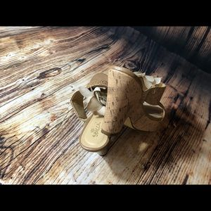 Sbicca Shoes - Cute Sbicca cork Natural heels size 8
